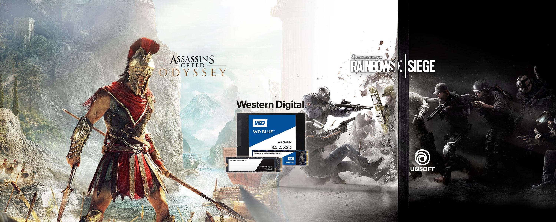 AC Odyssey lub R6 Siege Advanced Edition gratis przy zakupie wybranych dysków SSD w Amazon DE