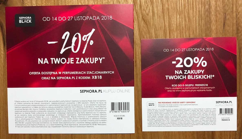 Sephora: -20% / -30% na zakupy Twoje i Twoich znajomych (stacjonarnie + eCommerce)