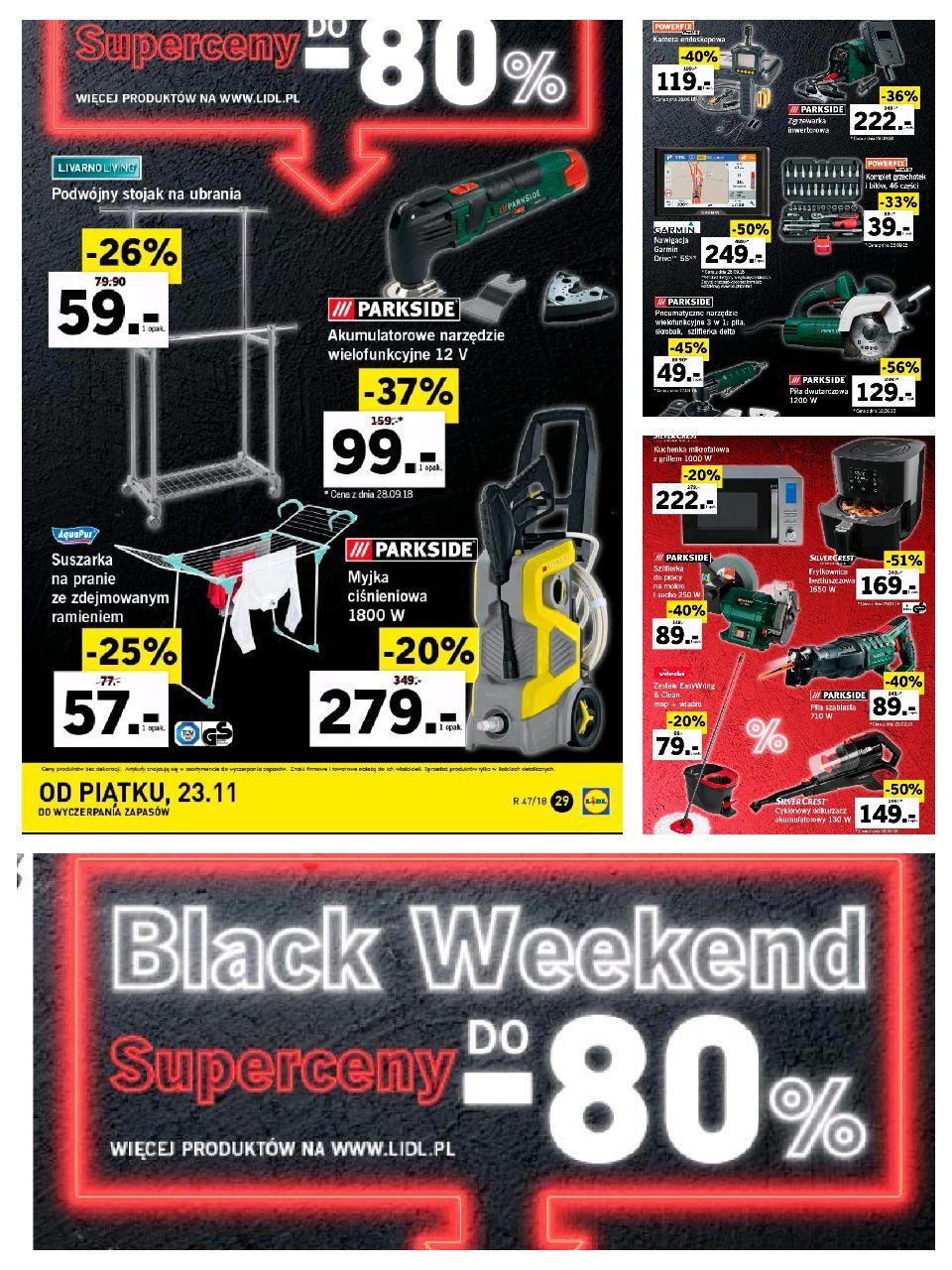 Lidl Black Weekend przecent do - 80%