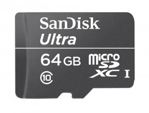 Karta Sandisk MicroSDXC Ultra 64GB klasy UHS-I @ K-kom