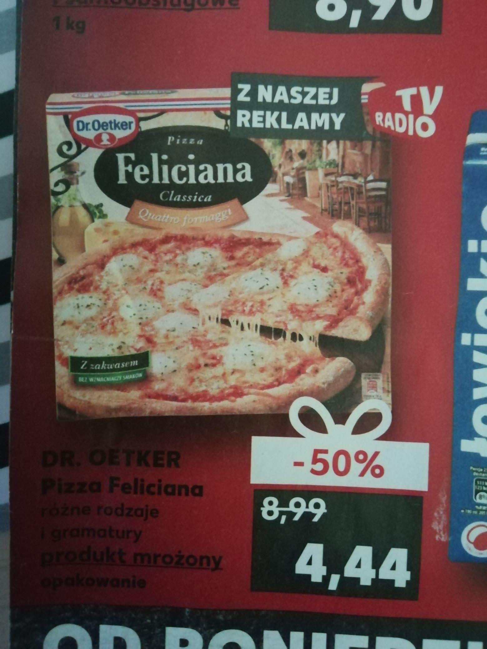 Pizza Feliciana różne rodzaje Kaufland