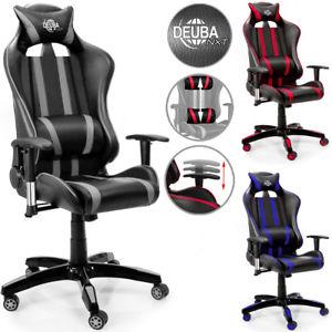 Krzesło/fotel gamingowy Deuba NXT (czerwony/szary/niebieski) za 29€