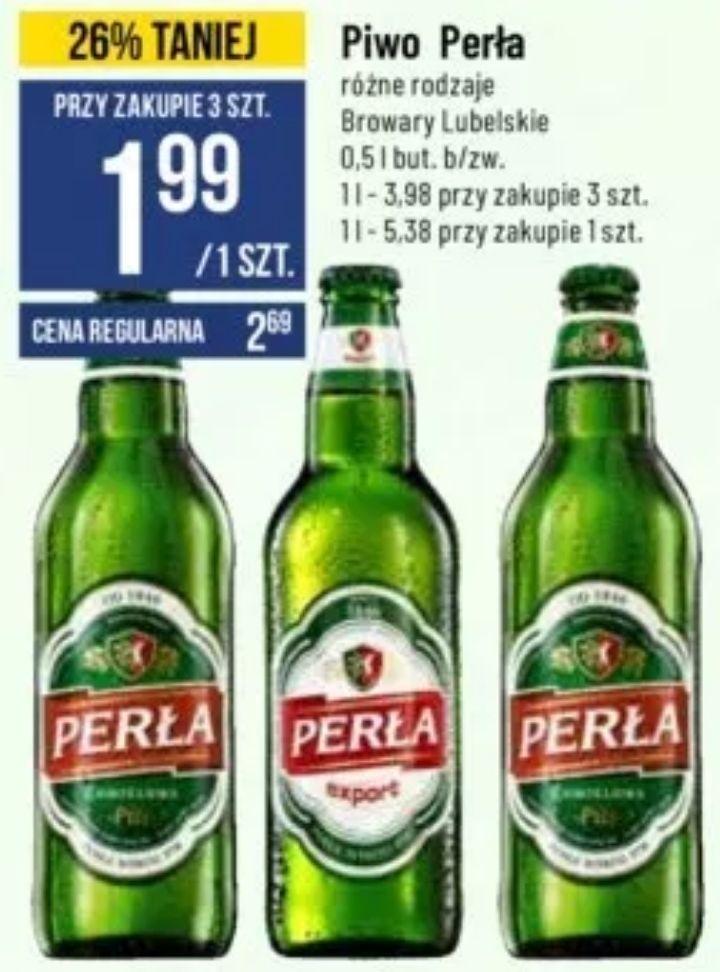 3x piwo Perła (różne rodzaje) 1,99zł za 1 tylko dziś @ POLOmarket