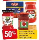 -50% na koncentraty i przeciery pomidorowe różnych firm E.LECLERC Gdańsk