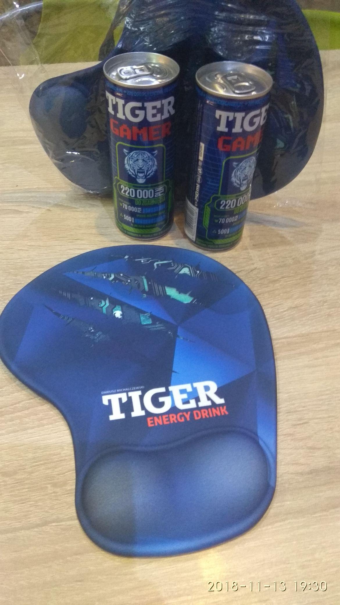 Tiger 250 ml gratis podkładka żelowa pod mysz. E.Leclerc