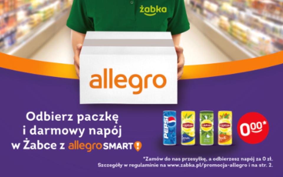 Odbierz paczkę i darmowy napój z Allegro Smart.