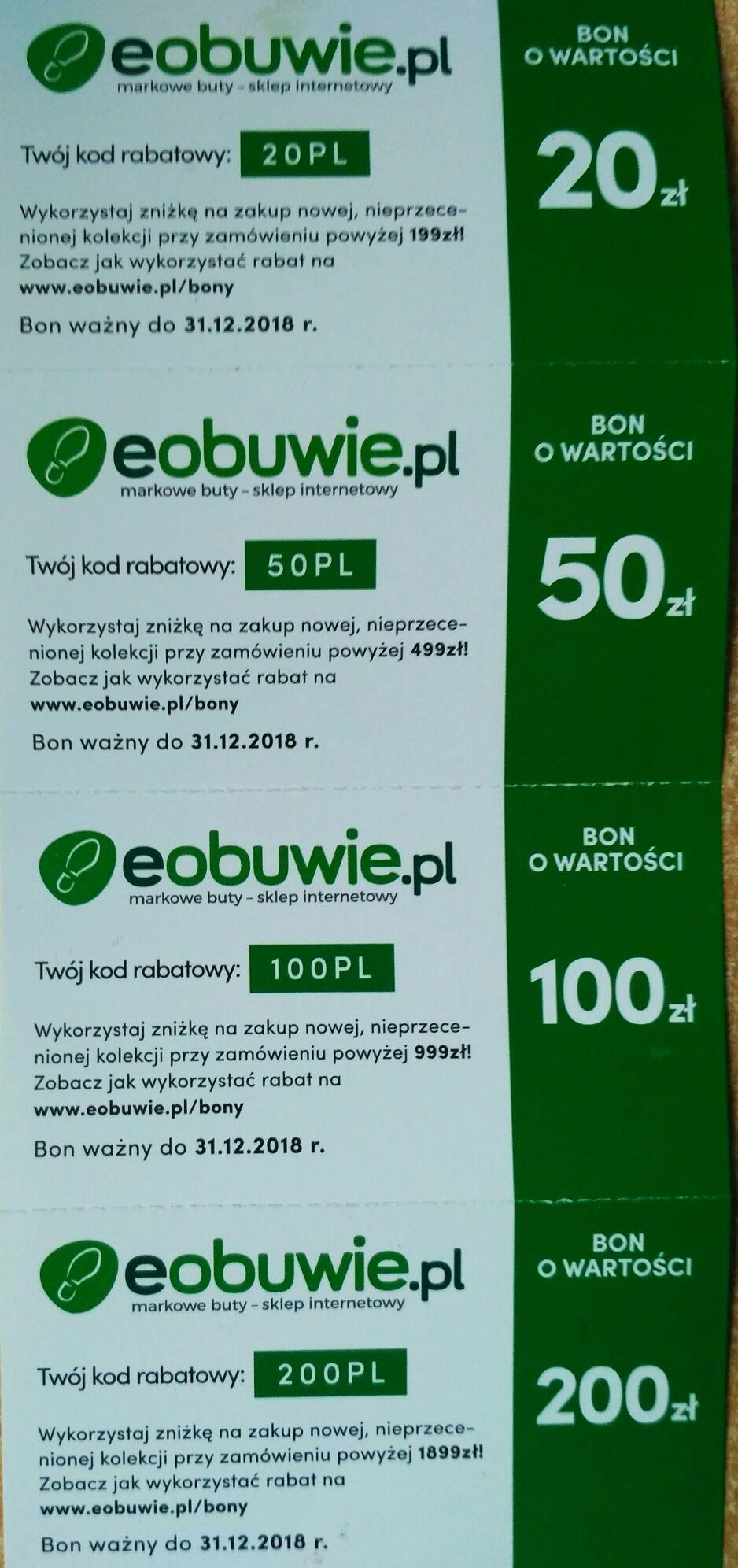 Eobuwie.pl zniżka -20zł