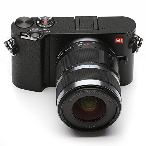 Cyfrowy aparat lustrzany YI M1 z obiektywem F3.5-5.6 12-40 mm i obiektywem F1.8 o średnicy 42,5 mm - czarny