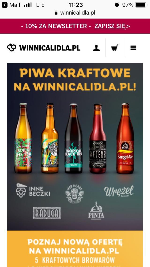 Piwa rzemieślnicze/kraftowe przecenione w Lidlu