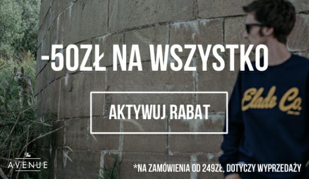 50zl zniżki przy zamówieniu za 249zl na theavenue.pl