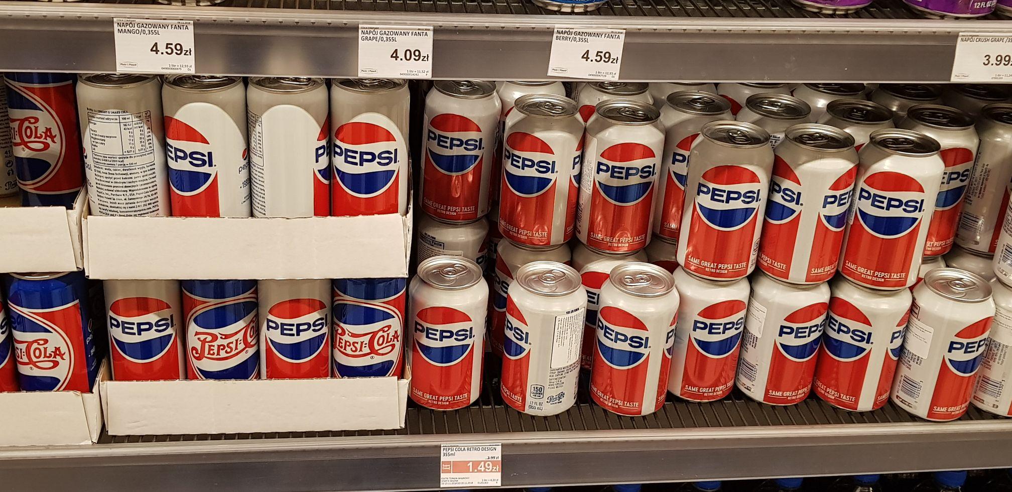 Pepsi 355ml z USA za 1.49 w Piotrze i Pawle Avenida Poznań
