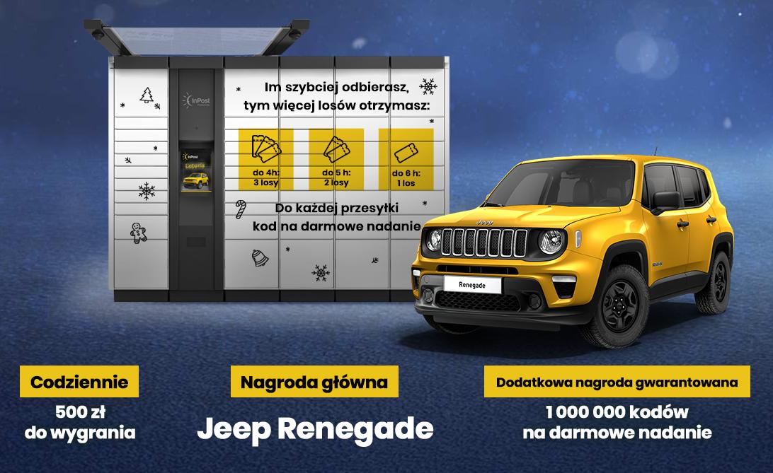 Odbieraj przesyłki w Paczkomacie InPost, a dostaniesz kod na darmowe nadanie paczki i przy okazji możesz wygrać Jeepa @ InPost