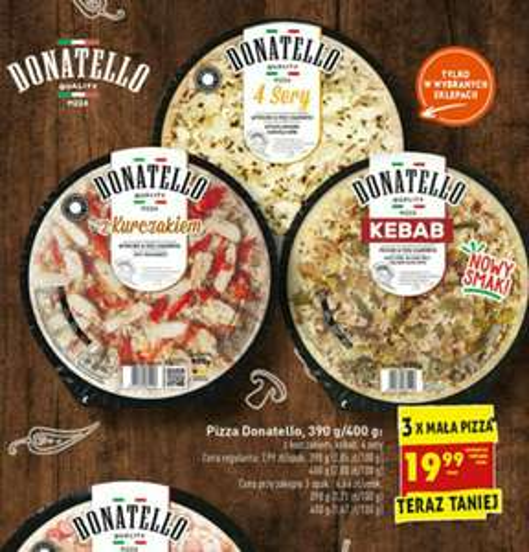 Pizza Donatello biedronka 3x za 19.99