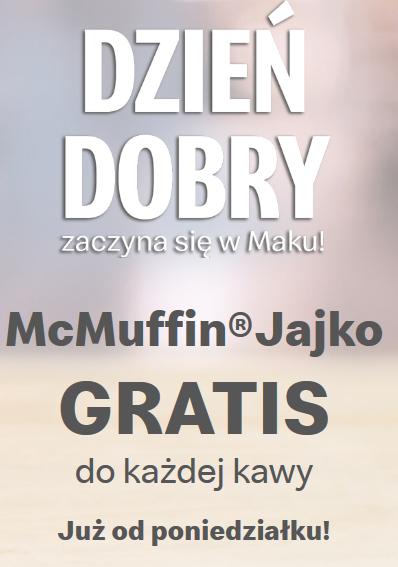 Kanapka McMuffin Jajko gratis do każdej kawy @McDonald's