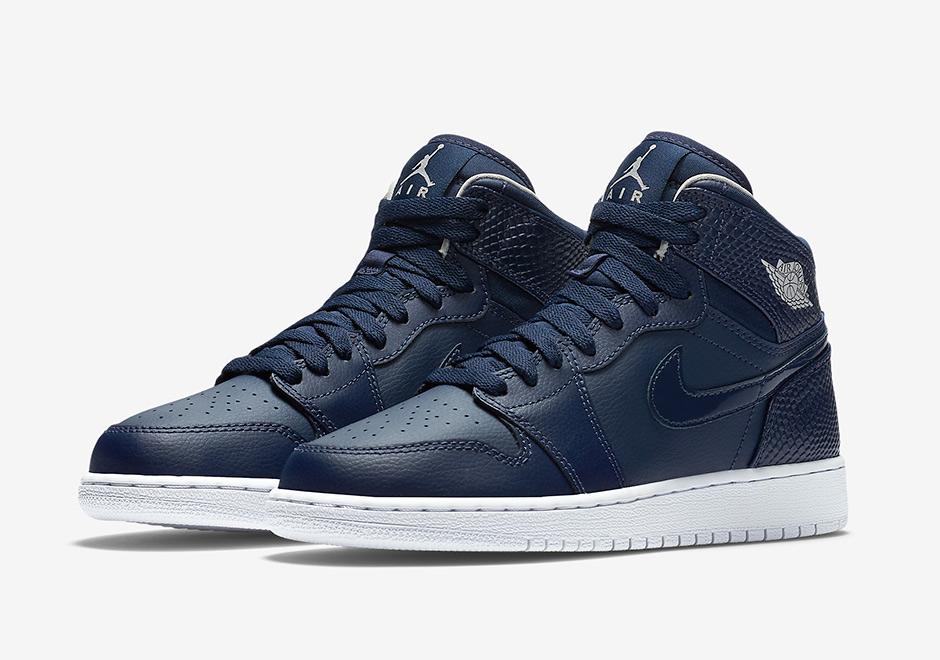 Buty Nike air jordan 1 retro high gs navy white