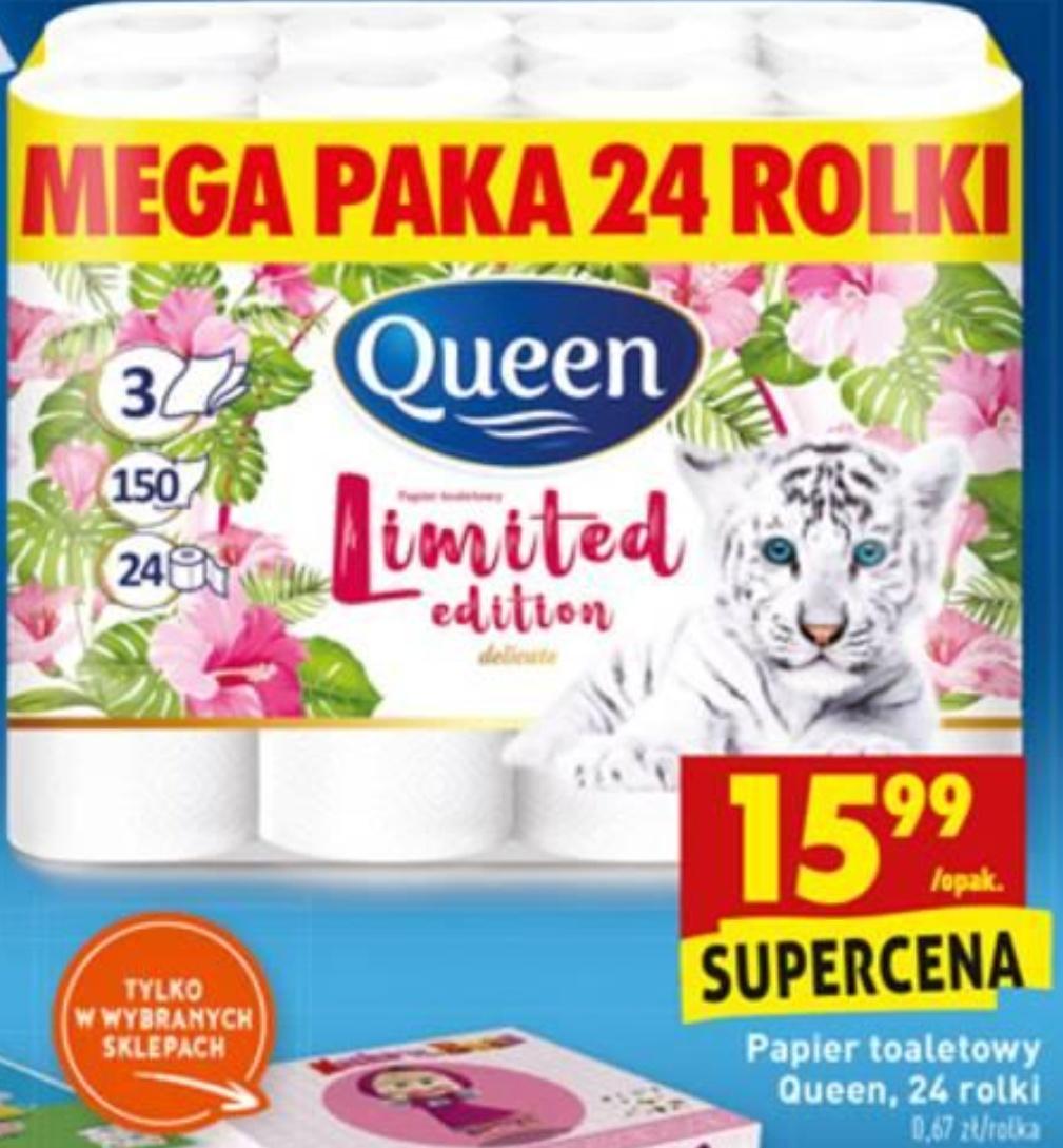Papier Queen Limited 24rolki za 15,99. Biedronka