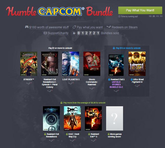 Capcom Bundle (Resident Evil, Lost Planet, Devil May Cry i inne) od 1$ [Steam] @ HumbleBundle
