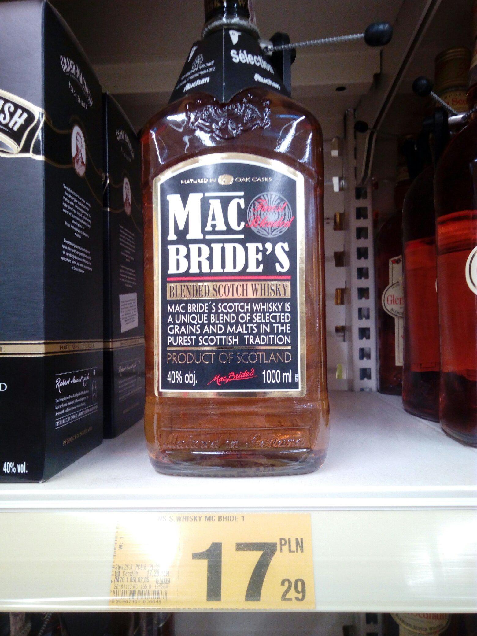 Whisky Mac Bride's za 17 zł (1 litr) - Lublin, Auchan