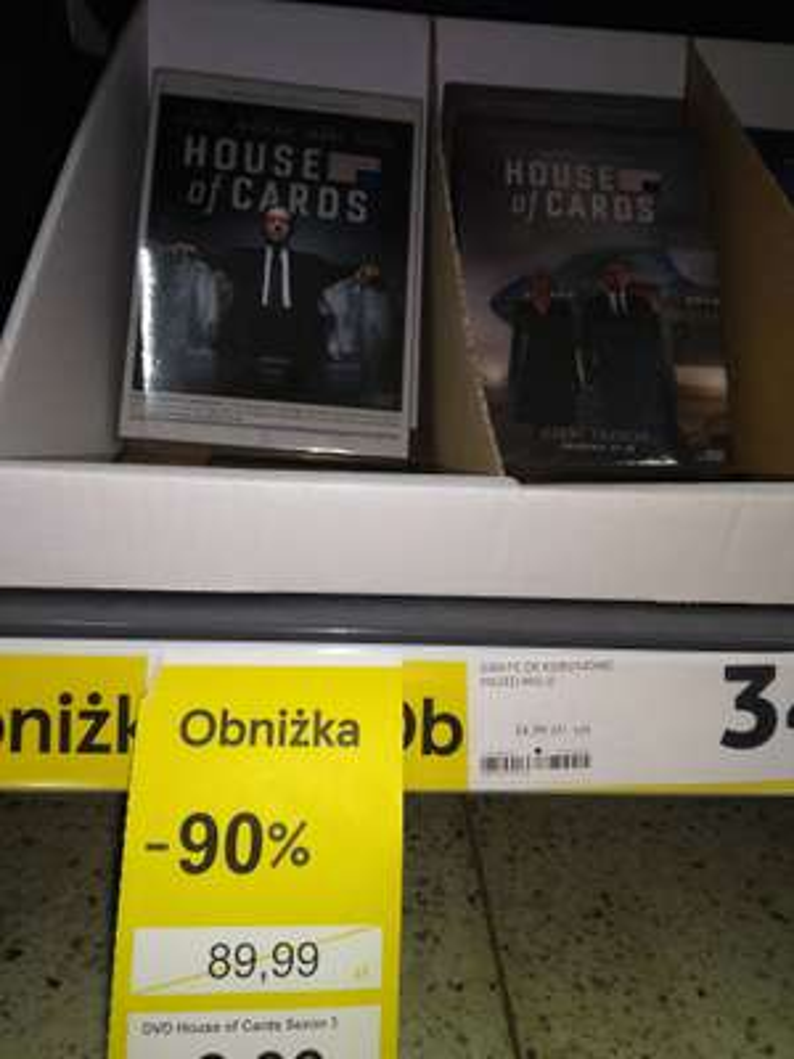 House of cards dvd sezon 1, sezon3. Tesco