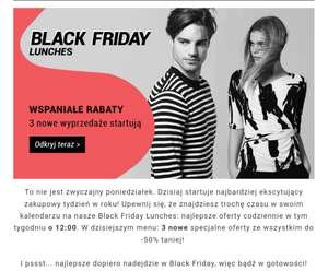 Zalando Lounge: black friday week - kod -10% na artykuły z Black Friday MWZ 260zł