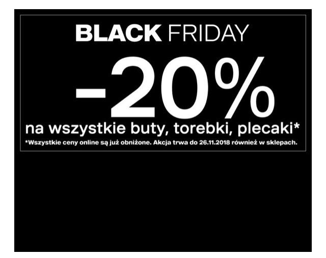 Deichmann Black Friday 20% buty, torebki, także przecenione