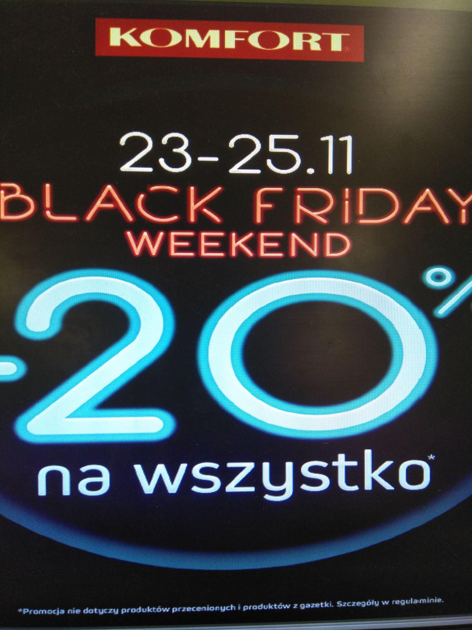 Black Friday Komfort 20%