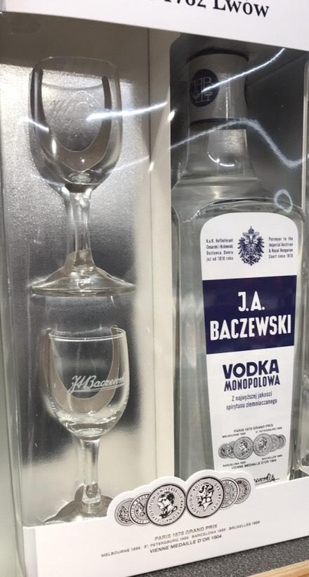 Wódka Baczewski 0,7 + 2 kieliszki - ALDI