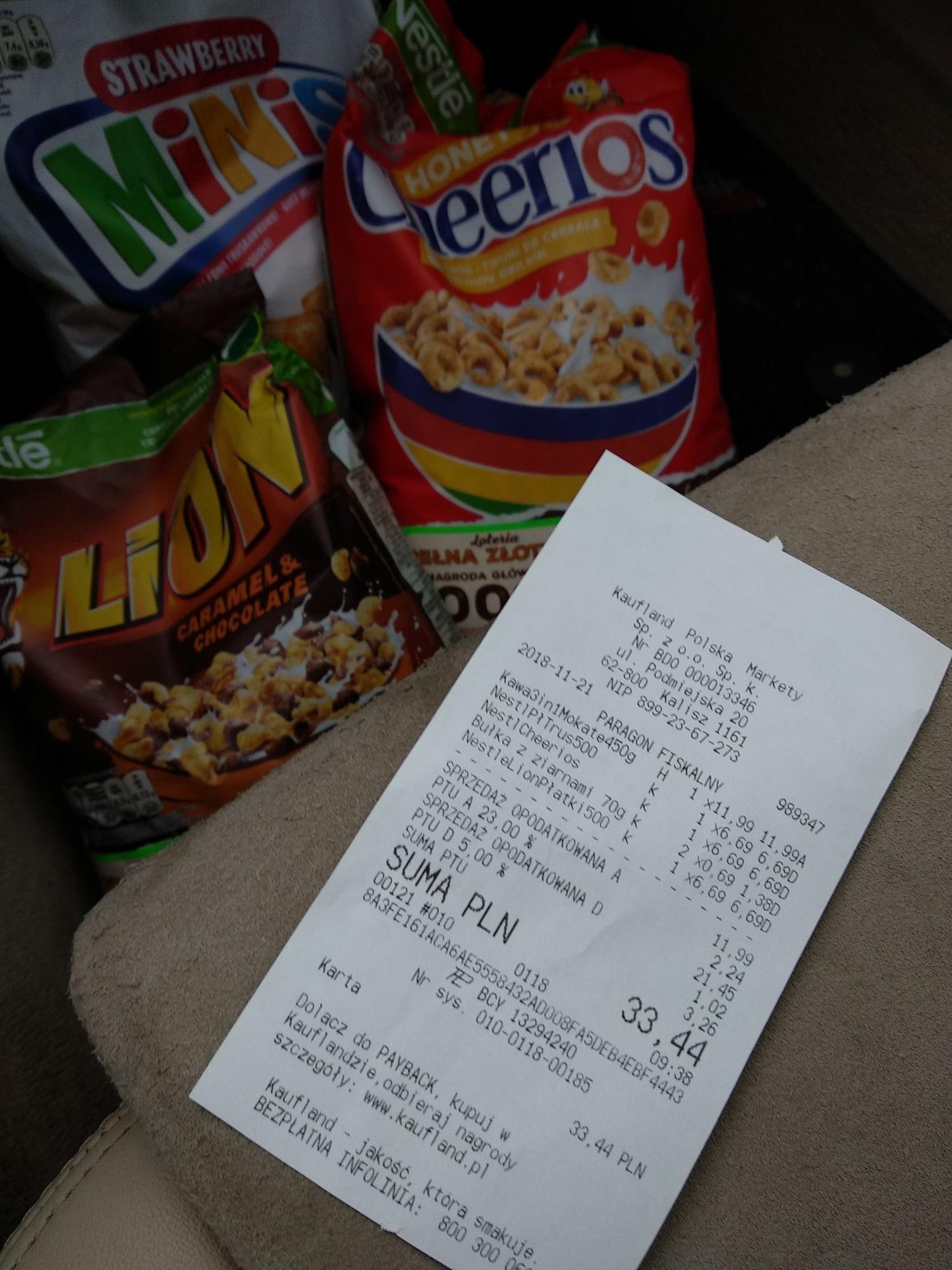 Wybrane płatki śniadaniowe Nestle (500g) . Kaufland