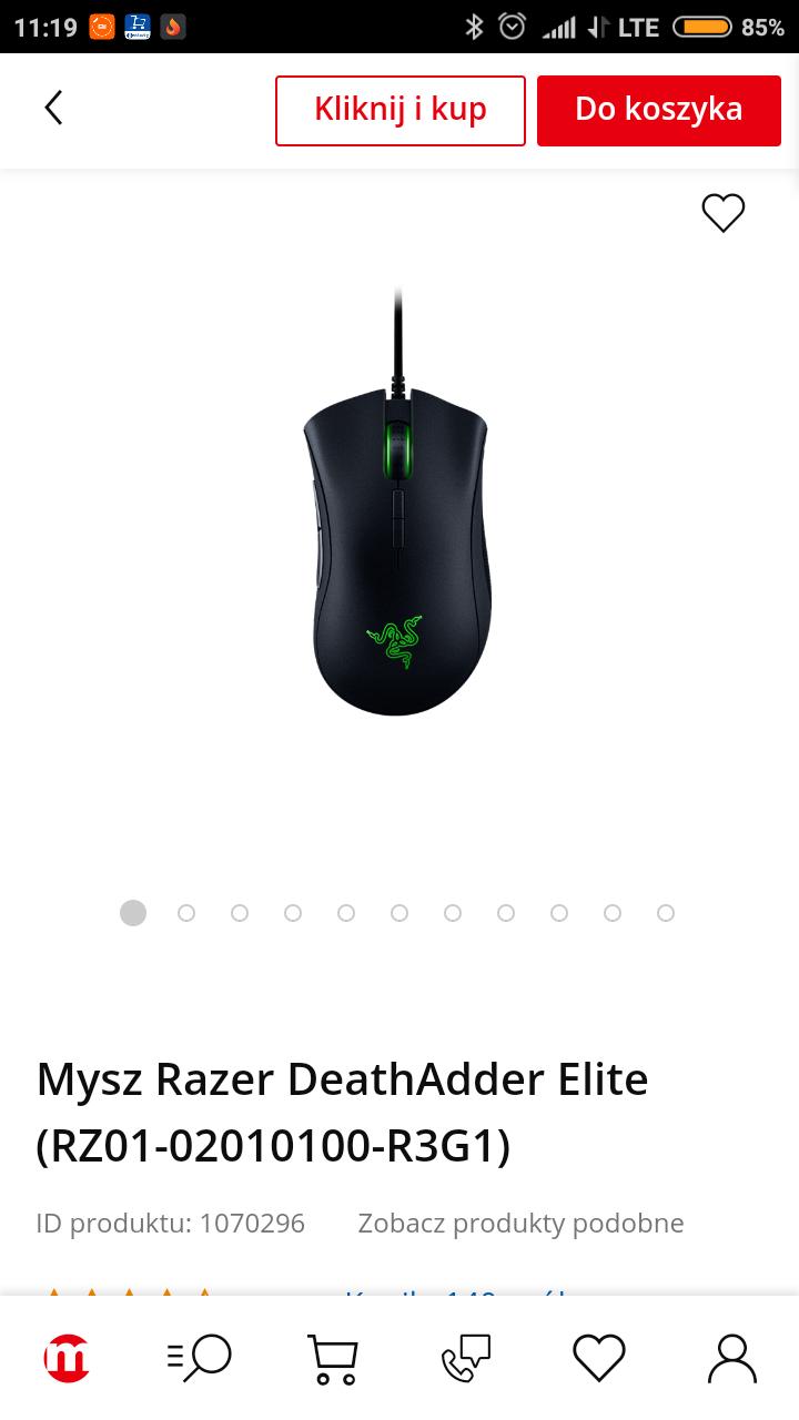 Myszka Razer deathadder Elite 229 zl
