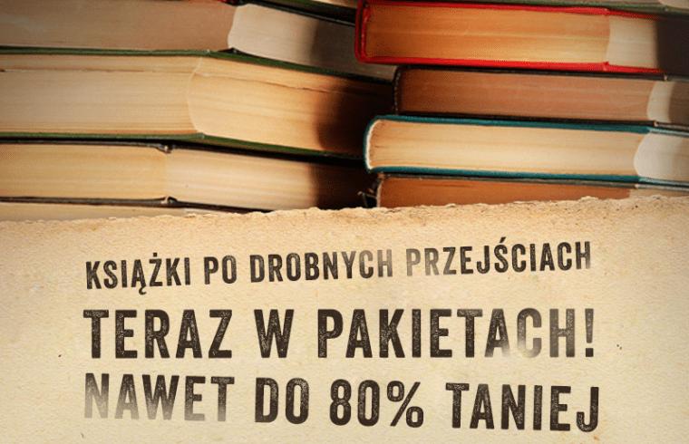 Książki po drobnych przejściach w pakietach do 80% taniej @ Wydawnictwo Literackie