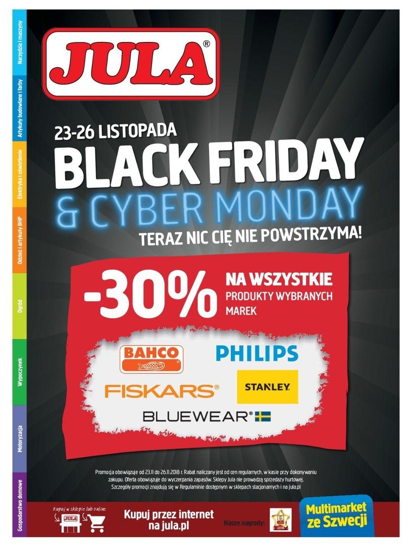 Jula -30% na wybrane marki Black Friday & Cyber Monday