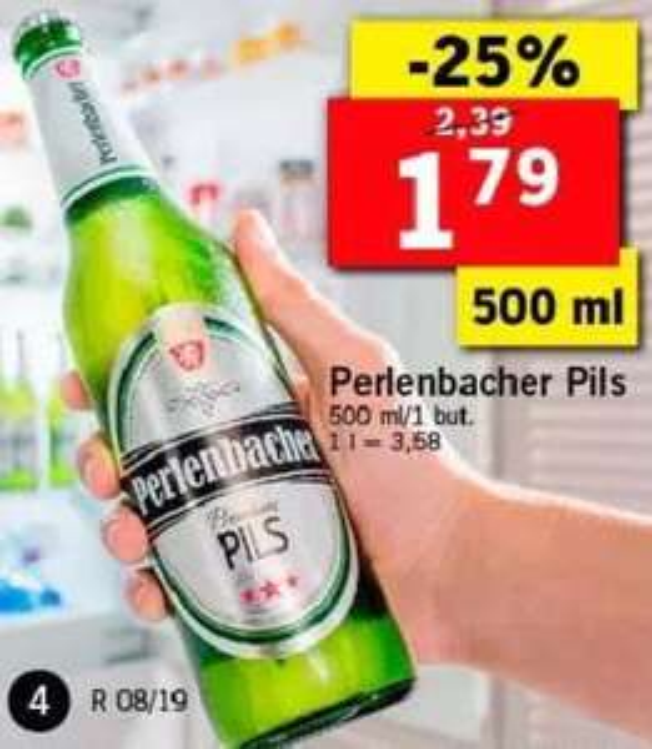 Piwa: Perlenbacher Pils (1,79zł) i Steam Brew (2,79zł): German Red, Imperial IPA i Stout @ Lidl