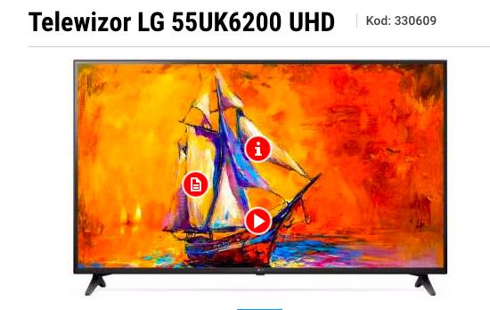 Telewizor LG 55UK6200 4k 55 cali w cenie 1799 zl