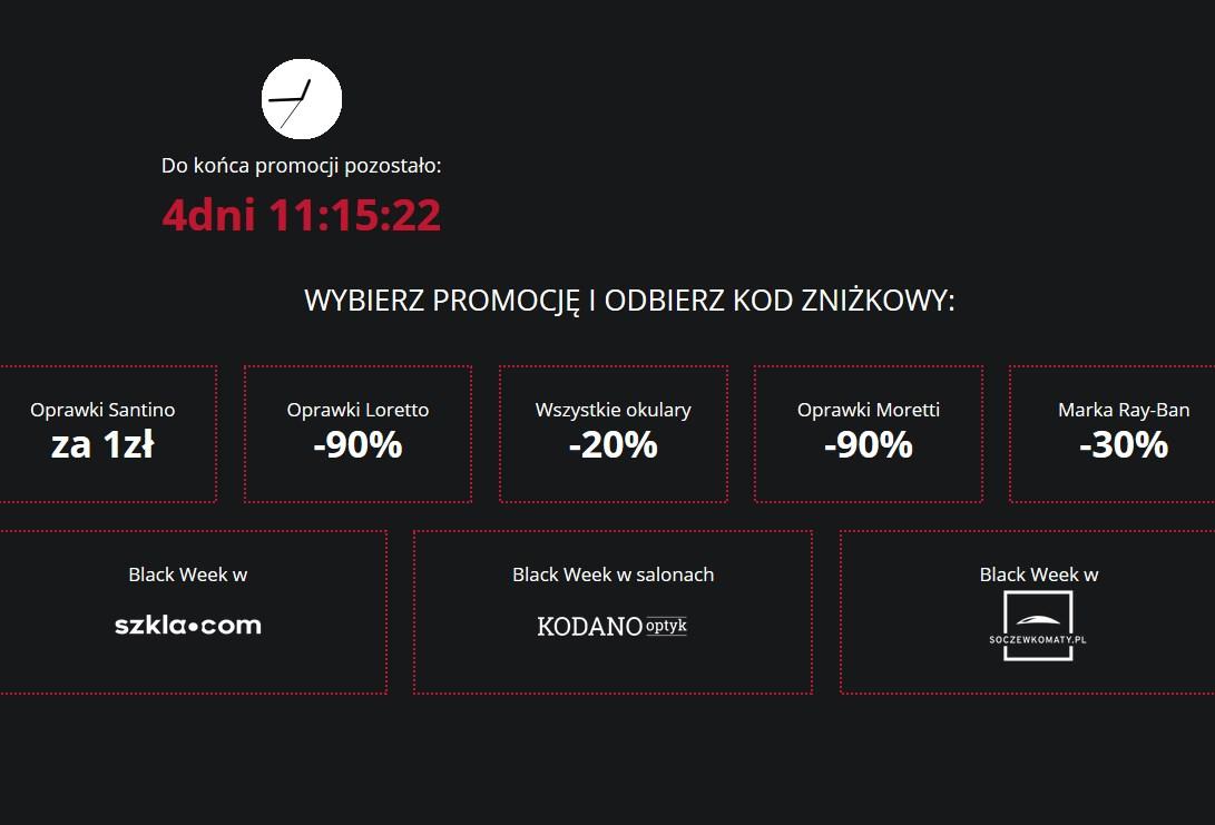 Okulary - Kodano.pl - Black Week (Oprawki Satino za 1zł!)