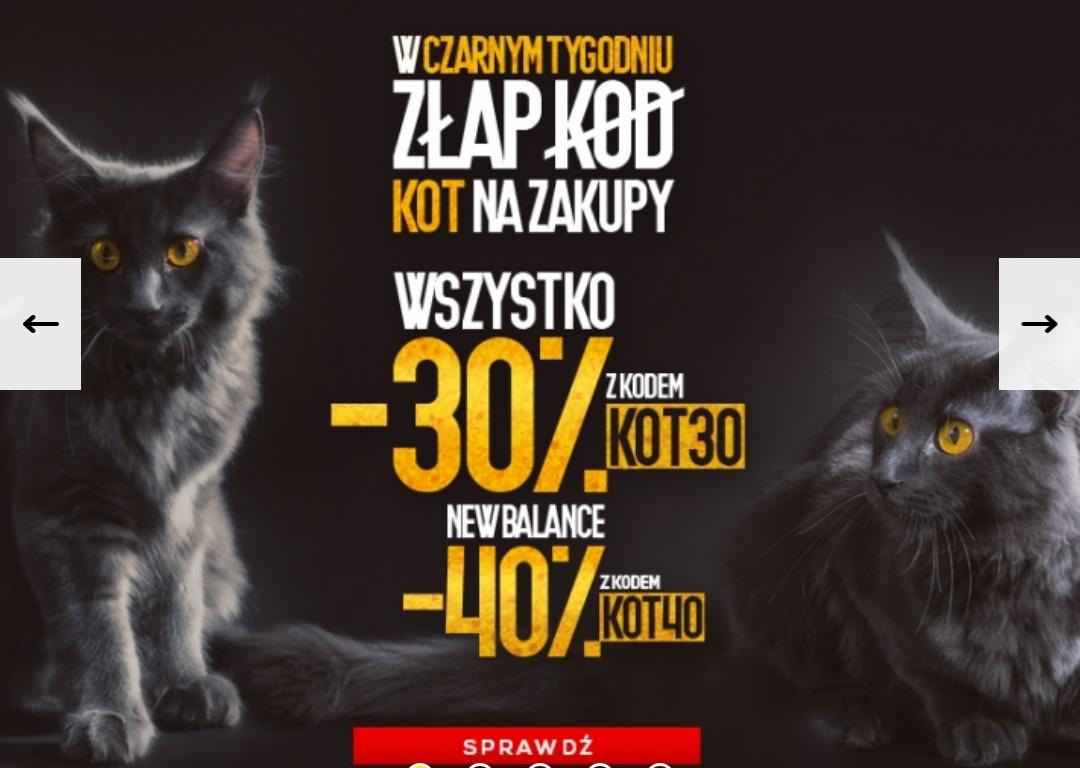 Fabrykacen.pl - 30% na wszystko oraz - 40% na New Balance