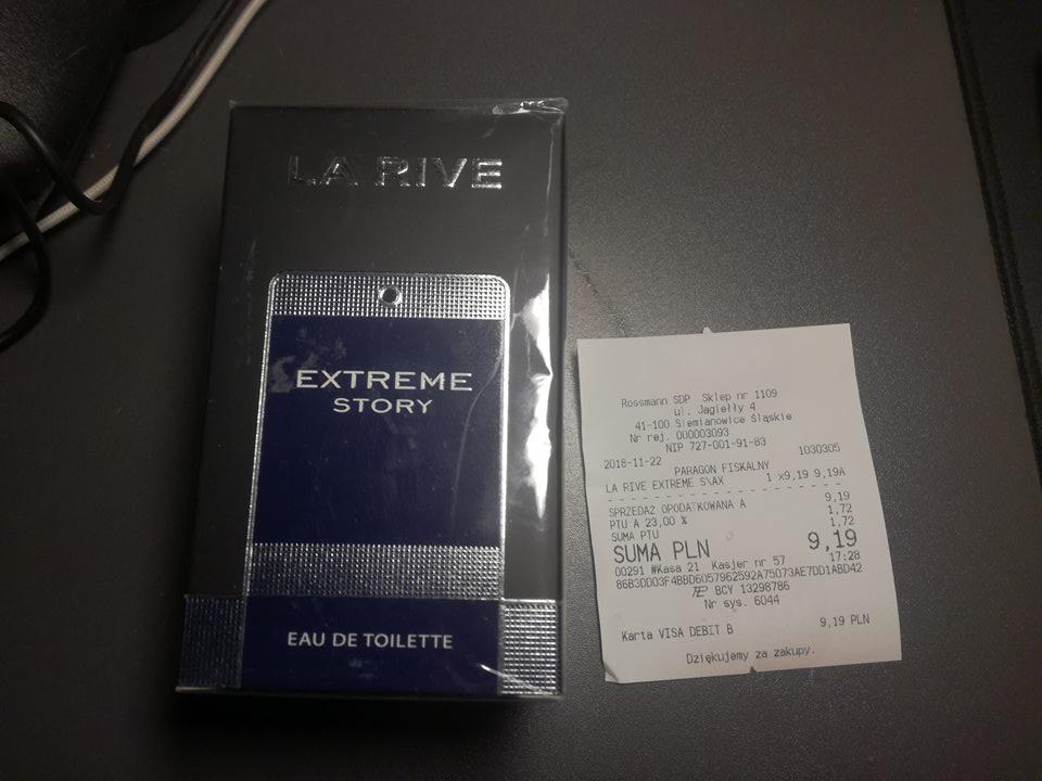 Woda toaletowa La Rive Extreme Story inspirowana Dior Sauvage w Rossman