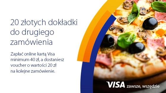 Dodatkowe 20 zł na kolejne zamówienie na PizzaPortal