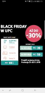 Black Friday w UPC - tanie pakiety na internet i tv