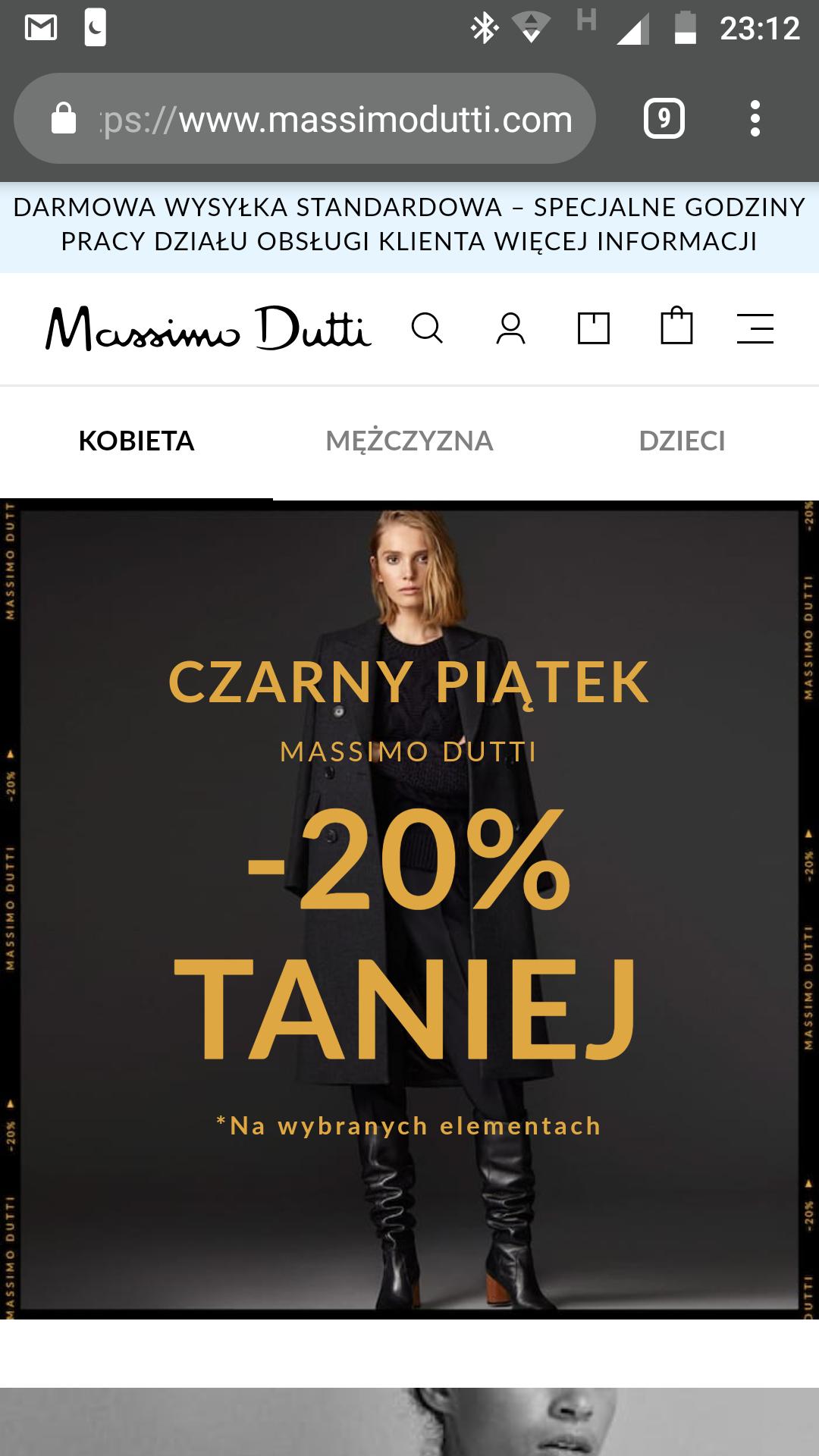 Massimo Dutti Black Friday -20%