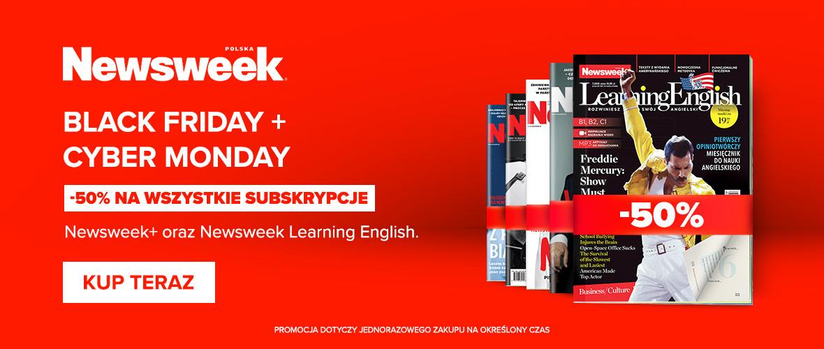 Newsweek PLUS -50% = 79,99zł za rok
