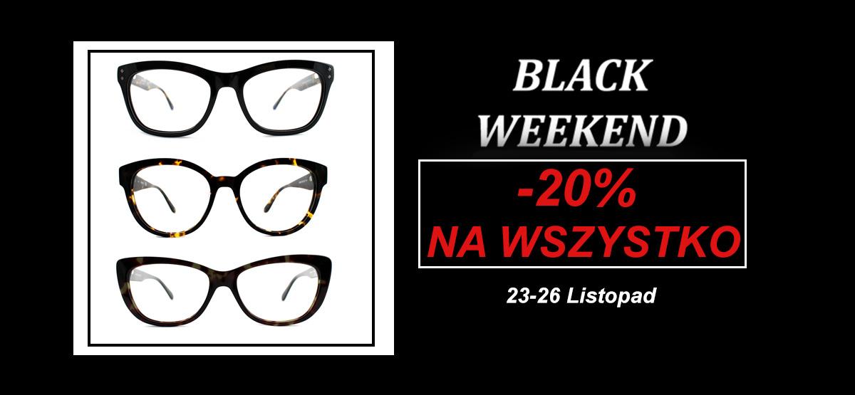 Black Weekend -20% na wszystkie okulary