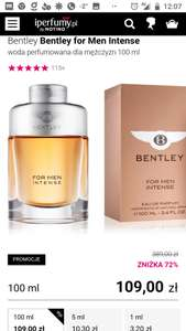 Perfumy Bentley for MEN intense 100ml woda perfumowana
