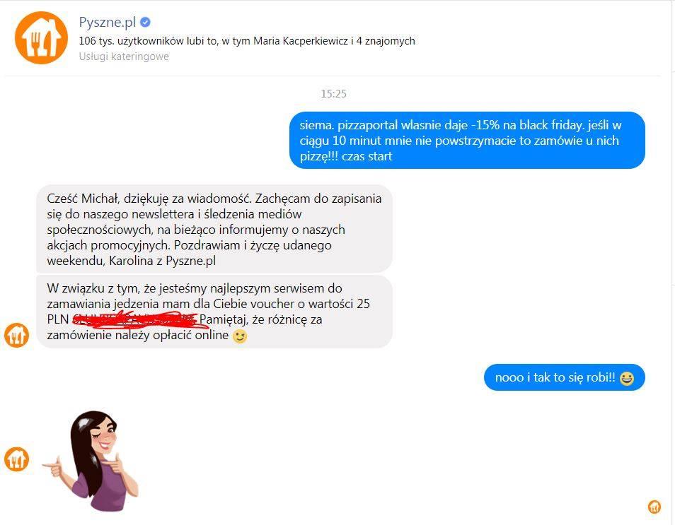 Pyszne -25zł na priv na facebooku