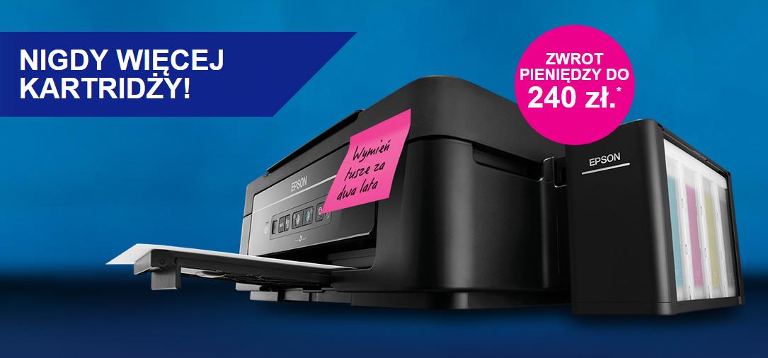 [CASHBACK] Do 240zł zwrotu gotówki na konto przy zakupie wybranych drukarek Epson
