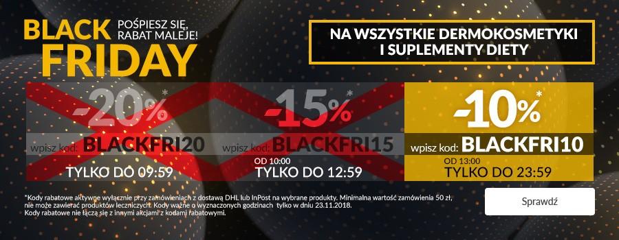 Doz.pl rabat 10 % Black Friday - suplementy diety i dermokosmetyki mwz 50 zł