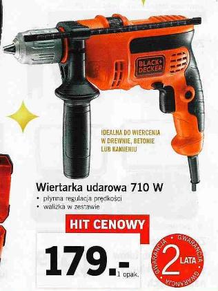 Wiertarka udarowa Black&Decker 710W