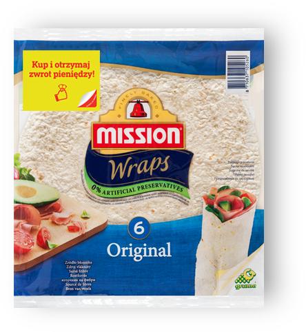 Spróbuj Mission Wraps (placki do tortilli) ZA DARMO (zwrot 100% ceny za 3 opakowania!) @ Mission