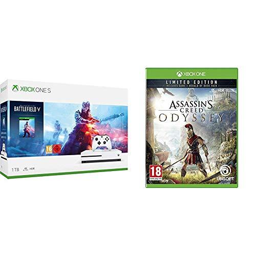 Xbox one S 1TB + BF V+ BF 1 + BF 1943+ Assasins creed odysey + Gears of War 4 + 1miesiąc game pass + 1 miesiąć EA Access