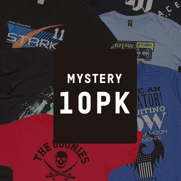 Zestaw 10 losowych geekowych T-shirtów