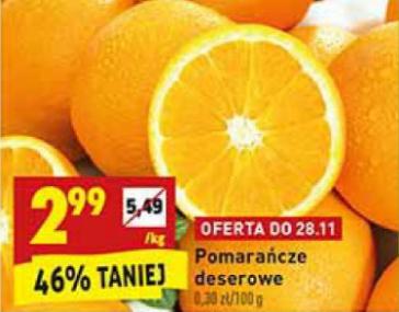 Pomarańcze w biedronce za 2,99